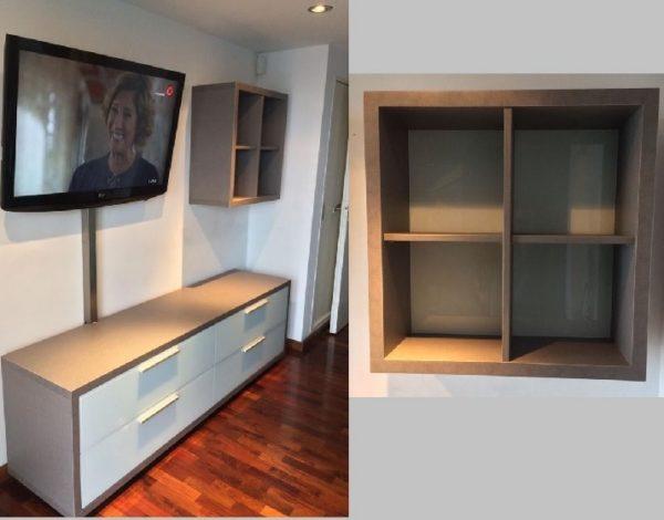 mueble tv vidrio